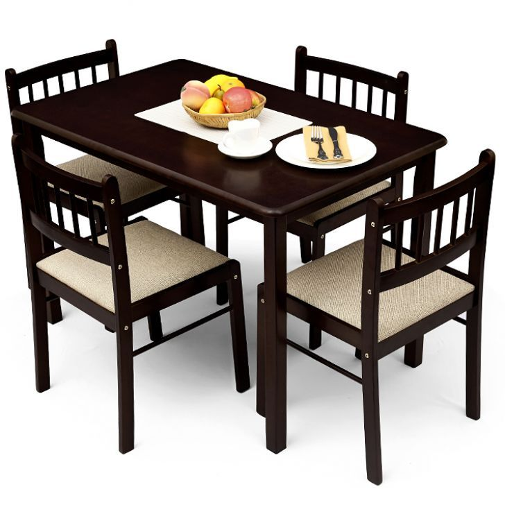Four Dining Room Chairs For Fine Brilliant Chairs Dining Table Piece Impressive Four Dining Room Chairs