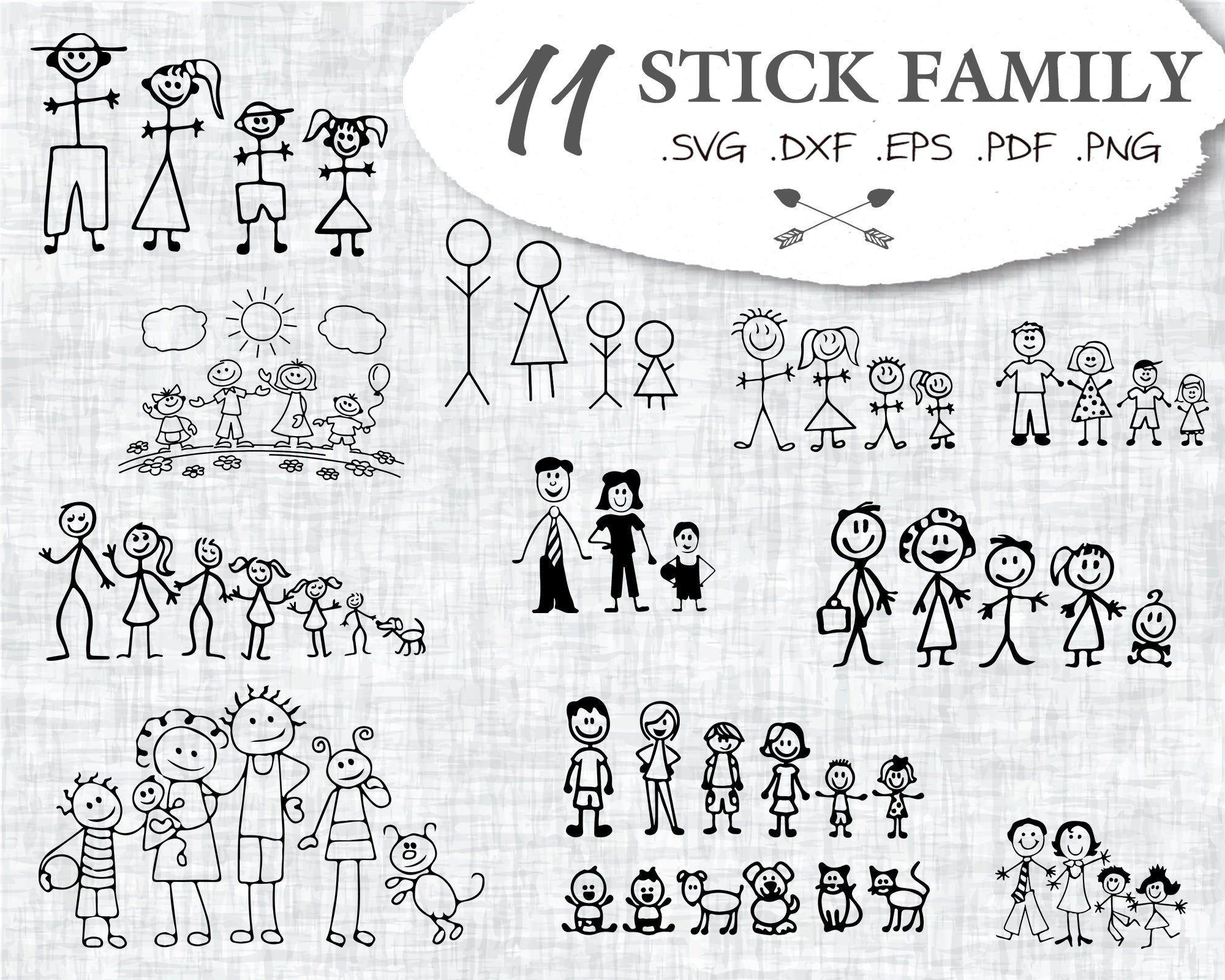35++ Stick figure family svg inspirations