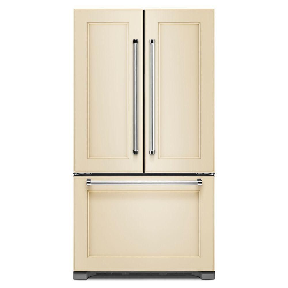 Kitchenaid 21 9 Cu Ft French Door Refrigerator In Panel Ready Counter Depth Krfc302epa The Home Depot Refrigerator Panels French Door Refrigerator Counter Depth French Door Refrigerator