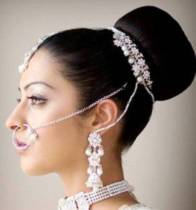 coiffure mi long mariage femme orientale