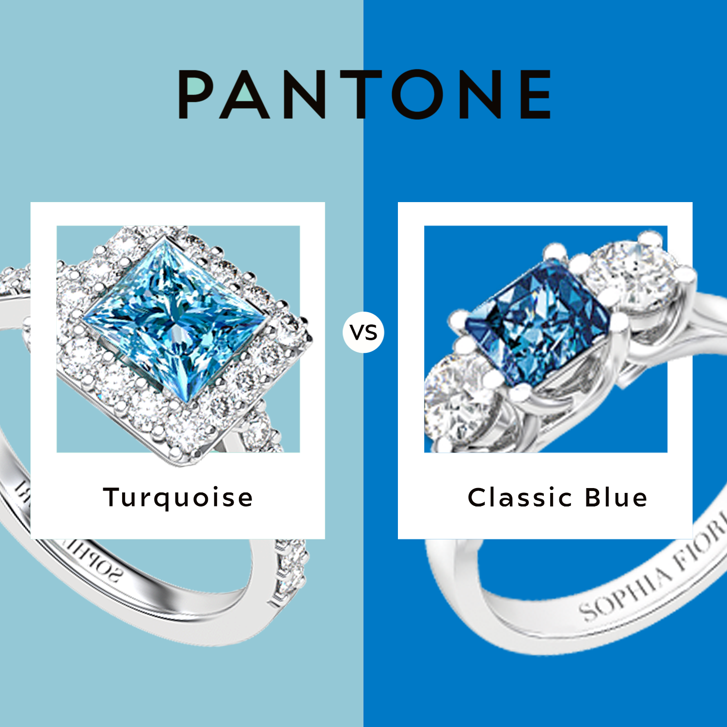 One question we get often is why blue diamonds have different hues, and the truth is.. there aren't two diamonds alike in the world! Although the formation process for all diamonds is similar, it's never identical for 2 diamonds, and the difference is even more notable for colored diamonds #MadeintheUSA #FamilyBusiness #Bridal #Jewelrydesign #uniquerings #FineJewelry #custommadejewellery