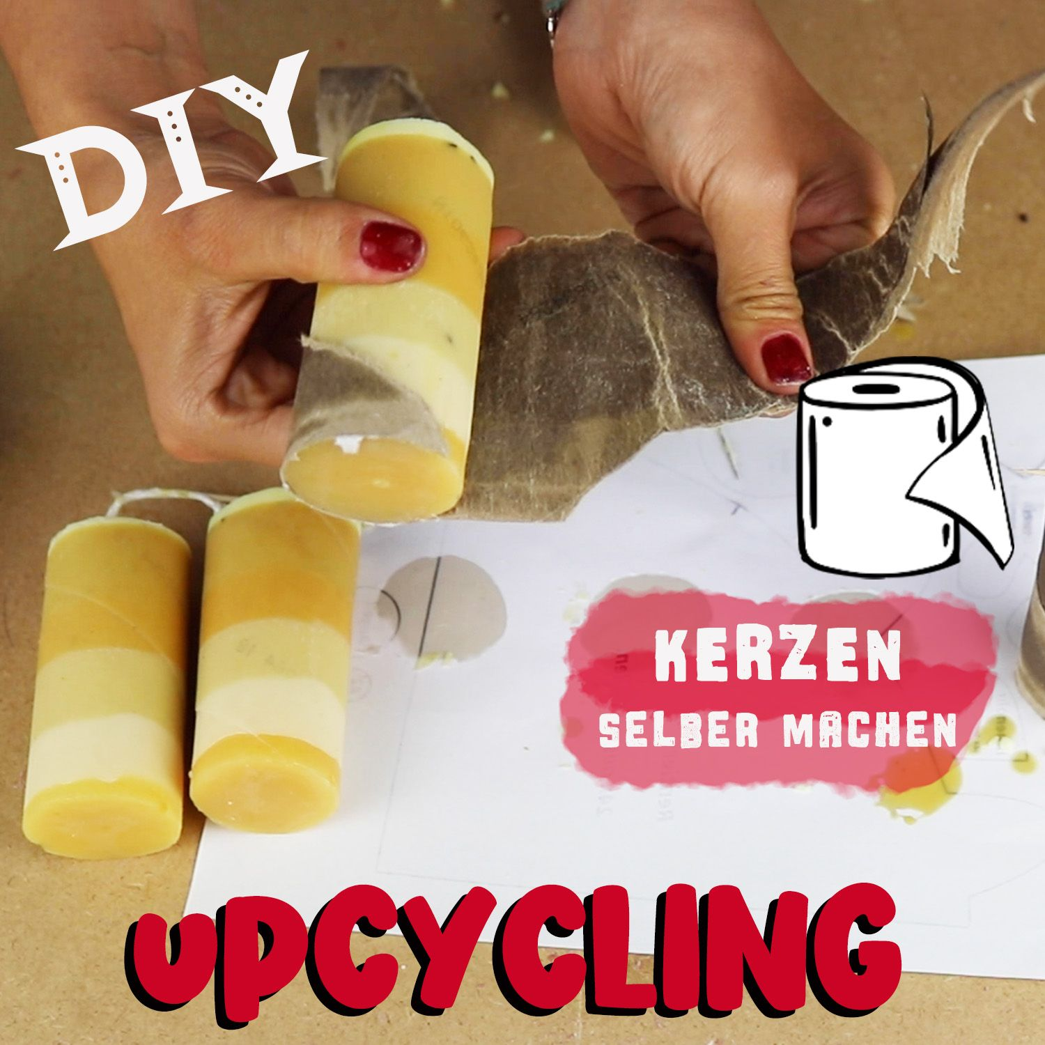 Photo of Upcycling – making candles yourself from candle scraps & toilet rolls – DIY