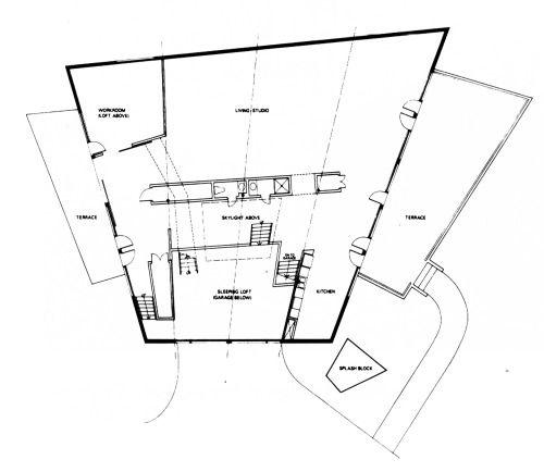 Frank Gehry Ron Davis Studio House The Plan