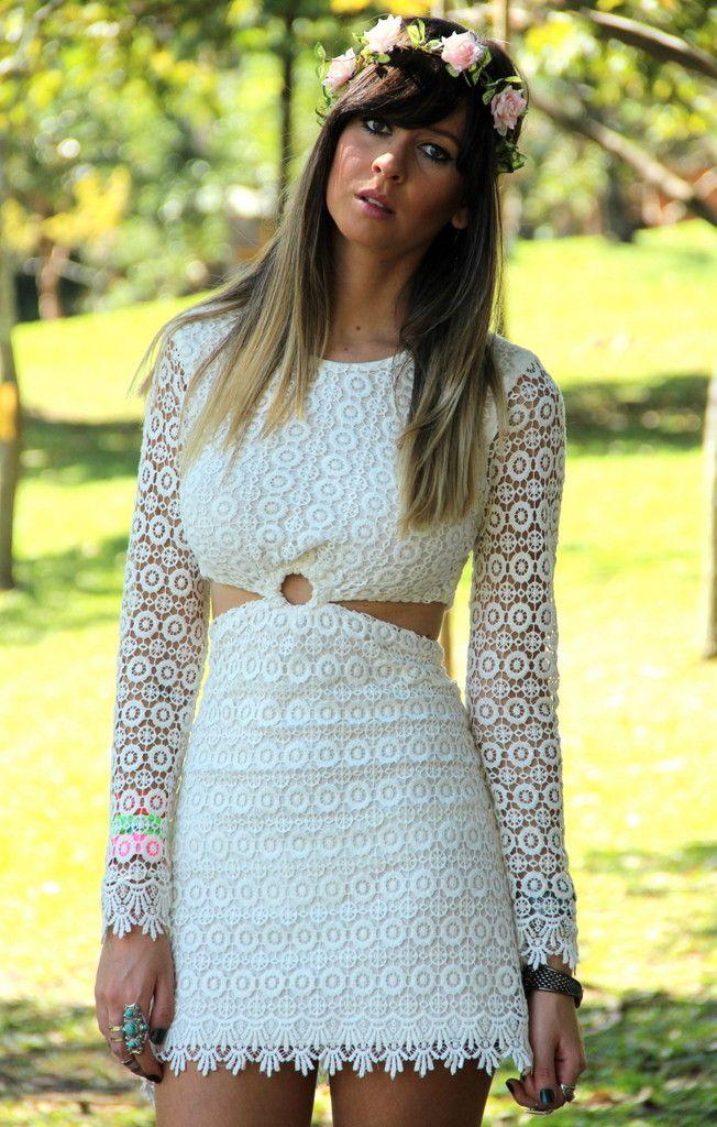 Vestido Gipsy Off White - Mundo Lolita