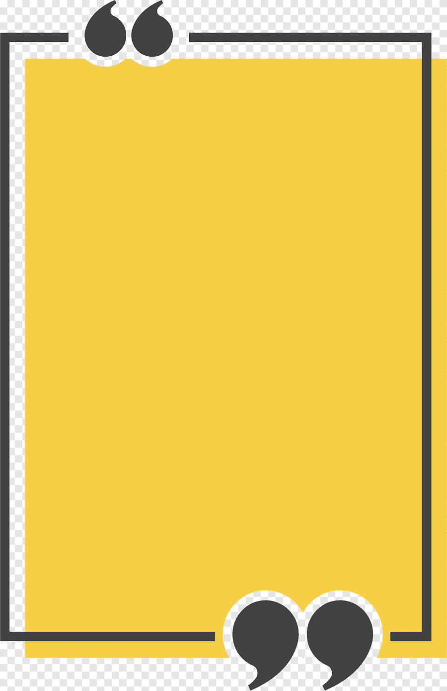 Congee Text Box Quotation Icon Yellow Rectangle Title Box Yellow Powerpoint Background Design Graphic Design Background Templates Instagram Logo Transparent