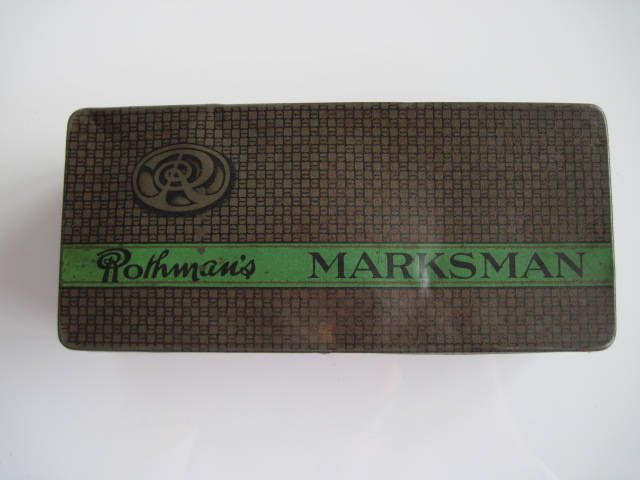 Excited to share the latest addition to my #etsy shop: Rothman's Marksman Full Flavoured Cigarette tin (100/empty) c.1920/40 http://etsy.me/2EpB0zt #vintage #collectables #cigarettetins #tobaccocollectibles