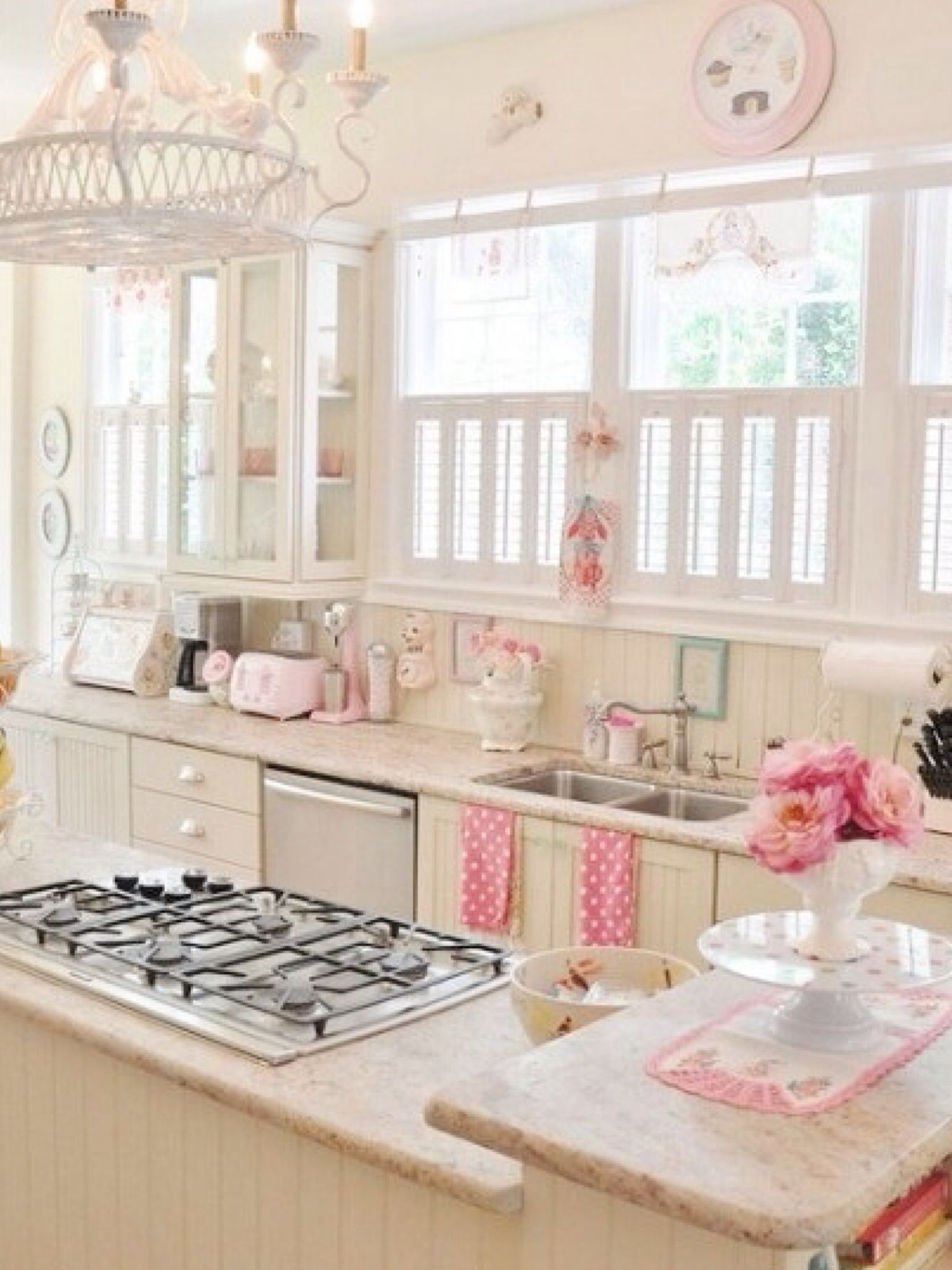 vintage yet romantic kitchen to suit your taste romantic kitchen shabby chic kitchen cute on kitchen decor pink id=58846