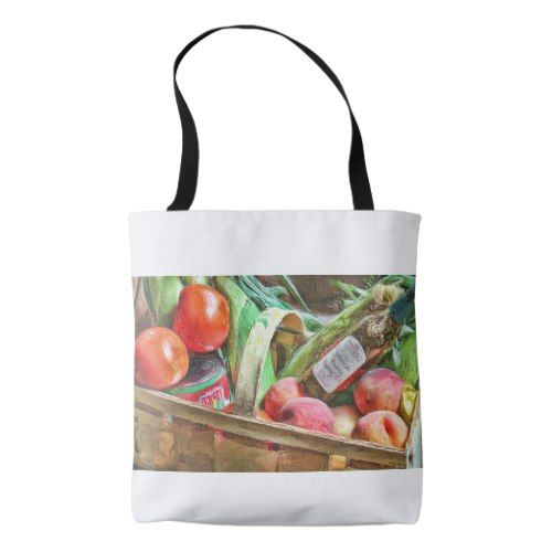 A Country Basket Tote Bag