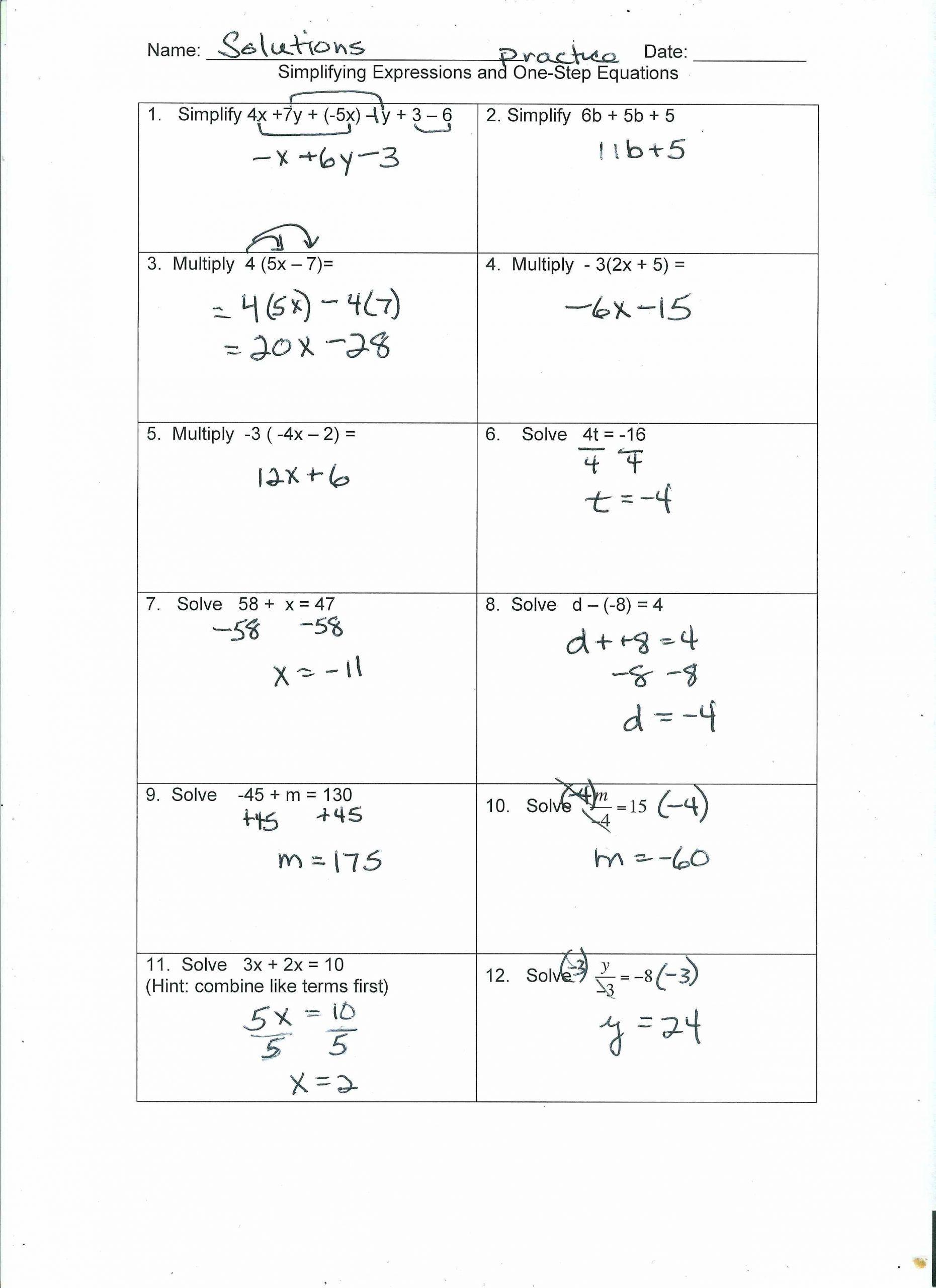 Literal Equations Worksheet Algebra 1 in 2020 Graphing