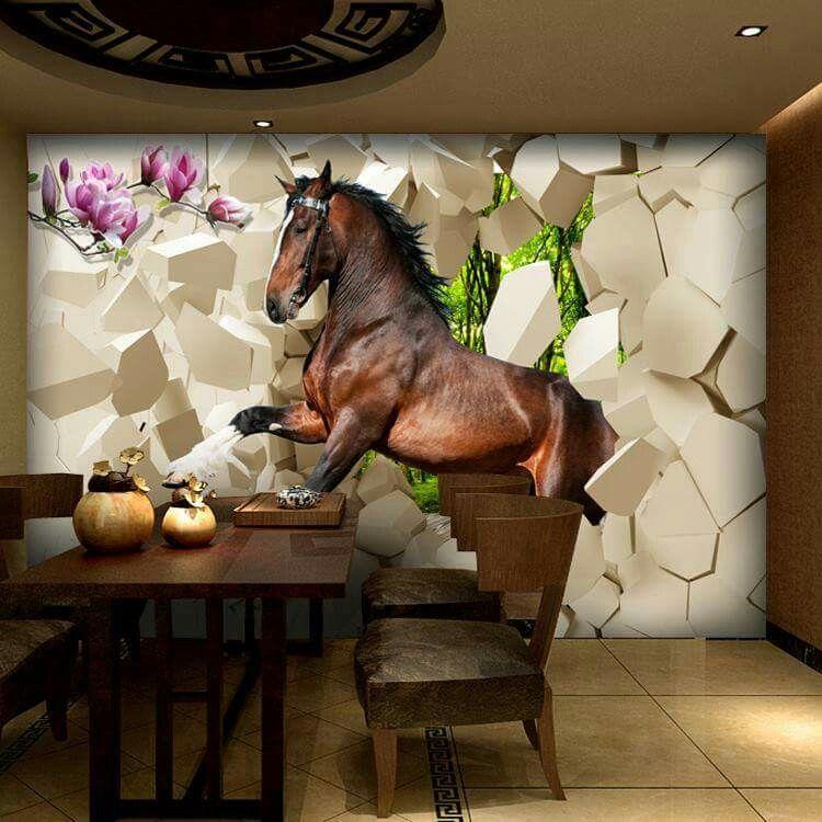 Pin by vianey banda on Horses Horse mural, Mural, Horses