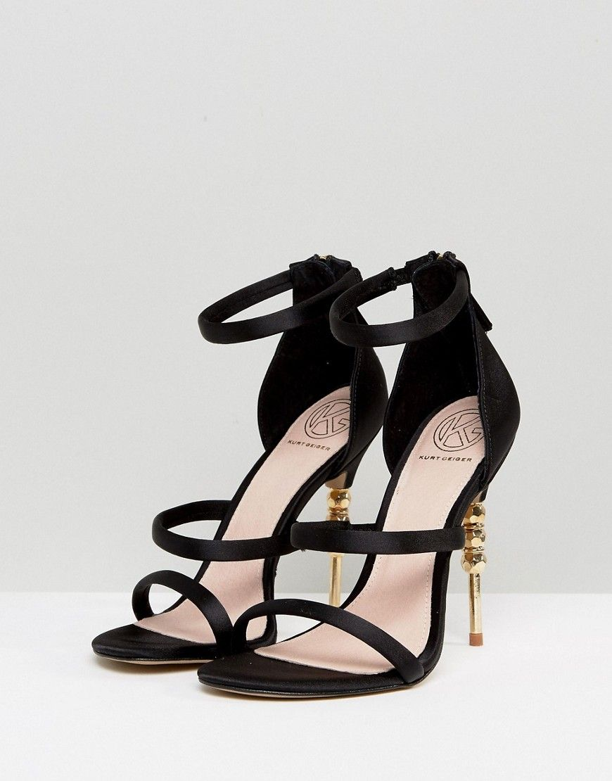 285f4d74b2 KG By Kurt Geiger Jazz Suede Heeled Sandals - Black | Products