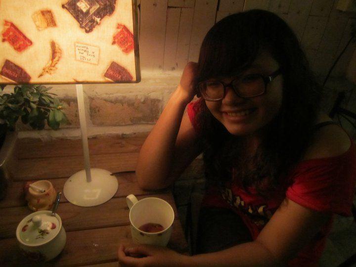 Me at Gac Hoa coffee shop