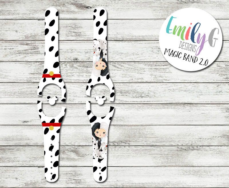 Dalmatians disney magic band 2 0 decal or skin adult and child size waterproof custom magicband wrap by shopemilyg on etsy
