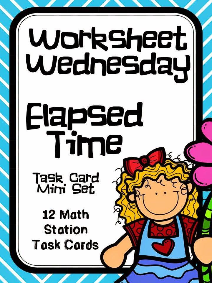 Worksheet Wednesday- Elapsed Time Freebie! | Math | Pinterest ...