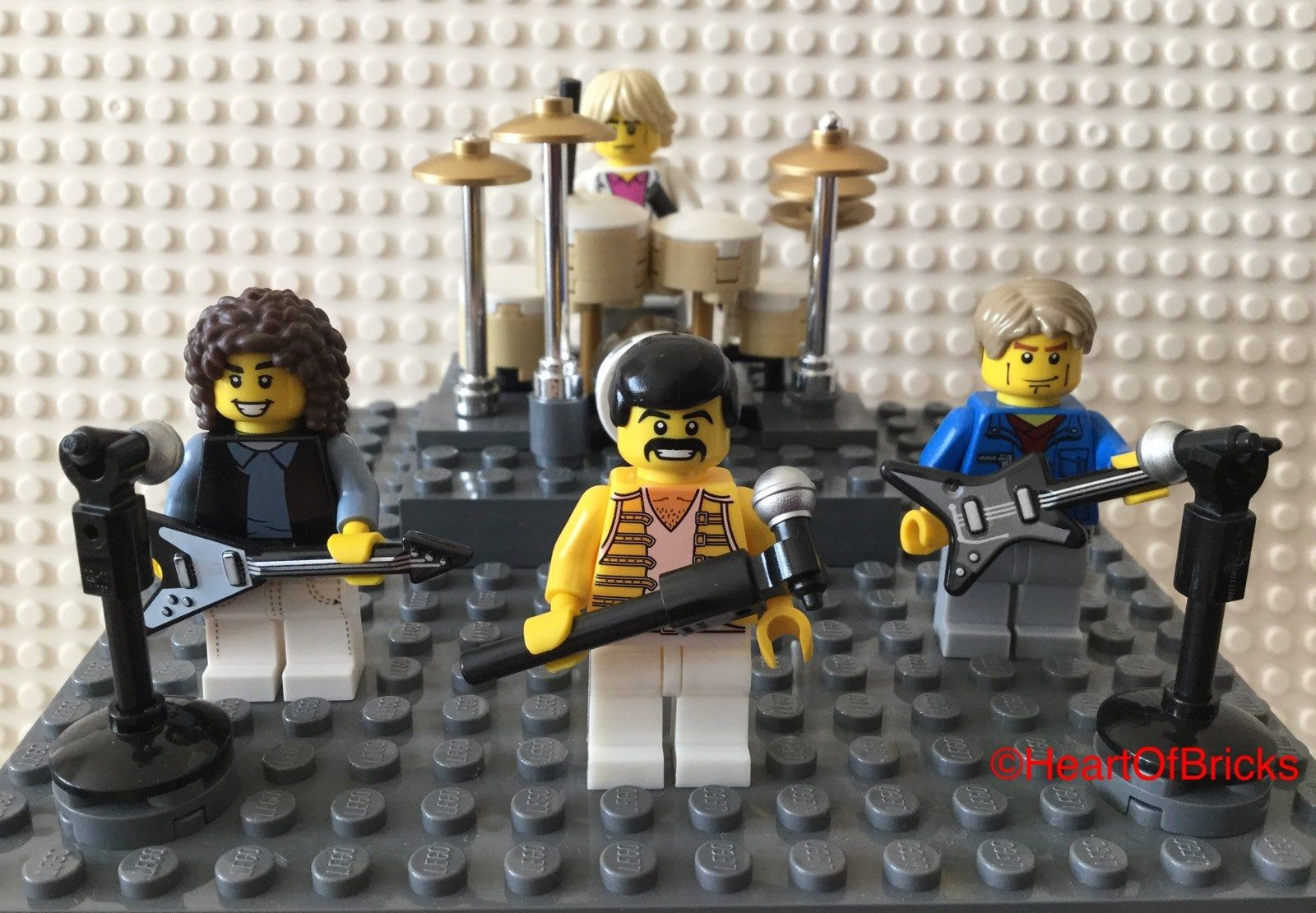 Queen Rock Group Lego Cake Topper Birthday Anniversary