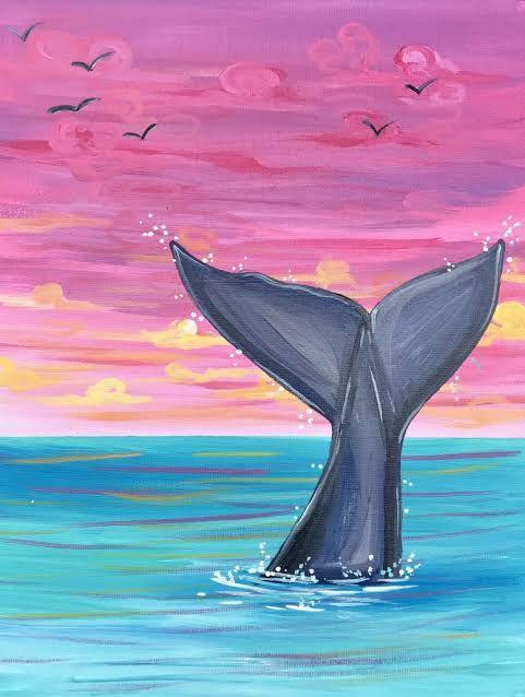 Resultado de imagen de whale tale ideas para dibujar en - Ideas para pintar cuadros ...