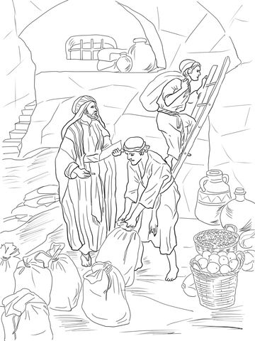 Prophet Malachi Storing Gifts In The Temple Coloring Page From