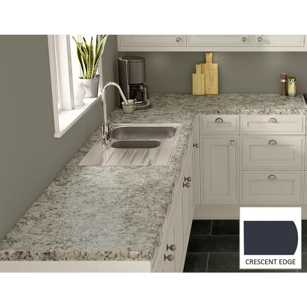 Wilsonart Typhoon Ice Laminate Custom Crescent Edge Laminate Kitchen Kitchen Countertops Laminate Laminate Countertops