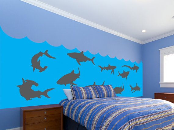 Shark Tank Kids Bedroom Wall Decal Set Free Shipping By