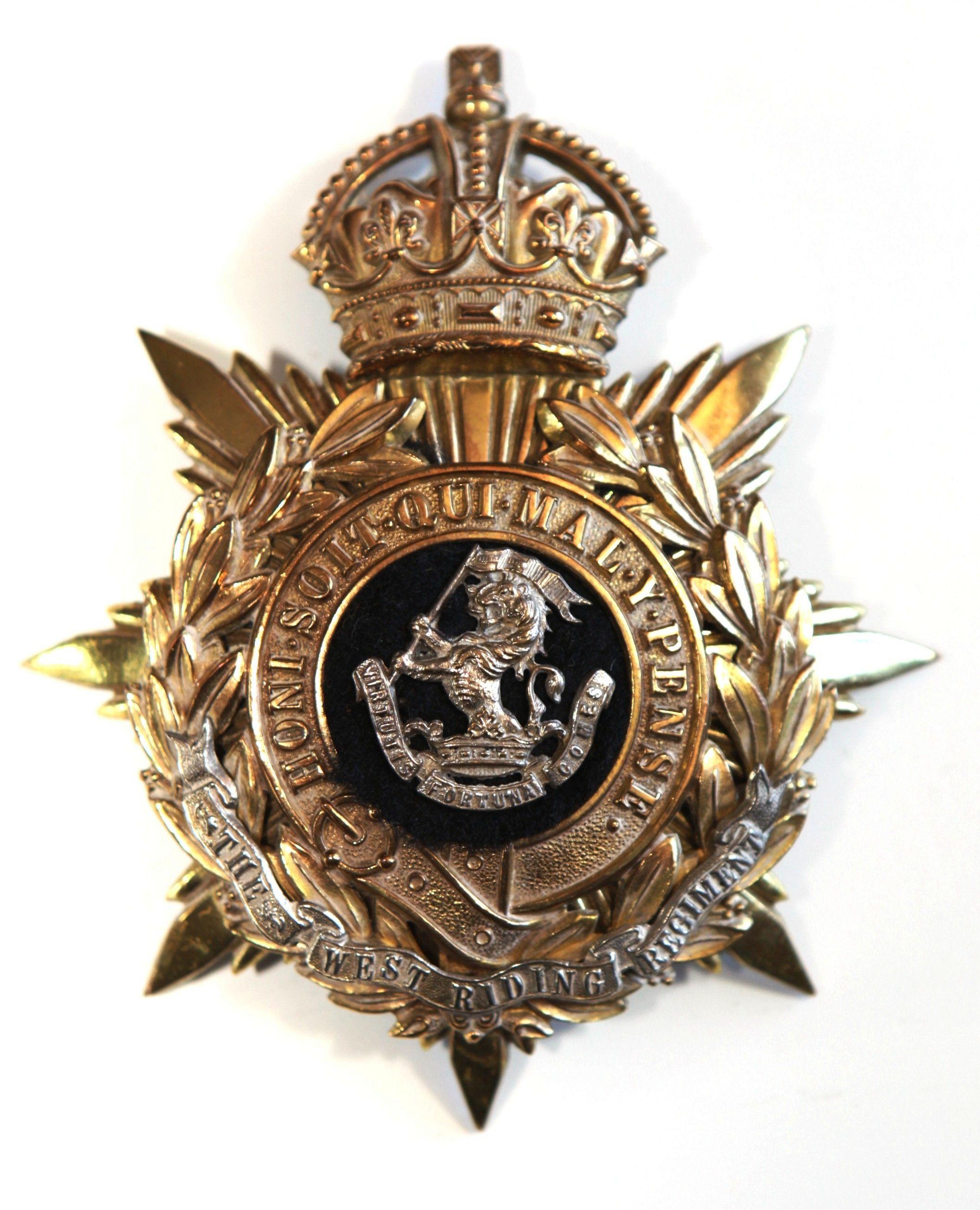 The Duke of Wellingtons (West Riding) Regiment Helmet Plate Badge