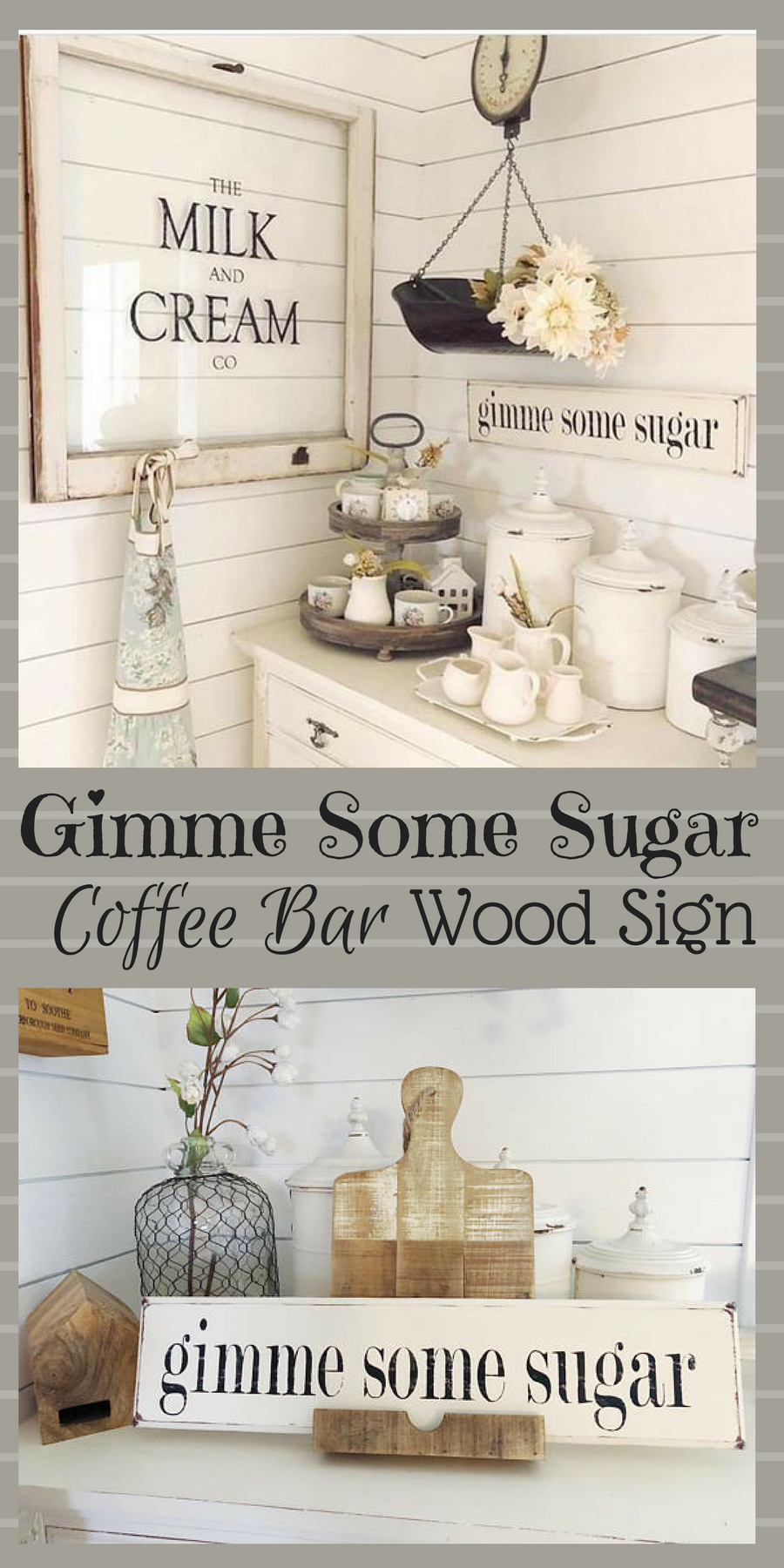 I must have this fabulous coffe bar set up! What a fun way