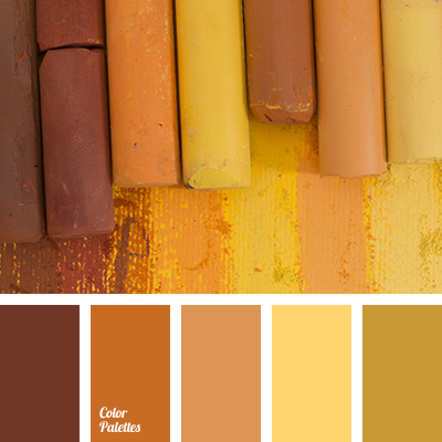 bright yellow, chocolate color, color bath, dark brown, gray