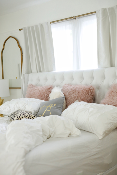 In Case You Missed It I M Sharing Cozy Details From My Bedroom With Worldmarket To Help You Update Your Home Gold Bedroom White Bedroom Design Bedroom Design