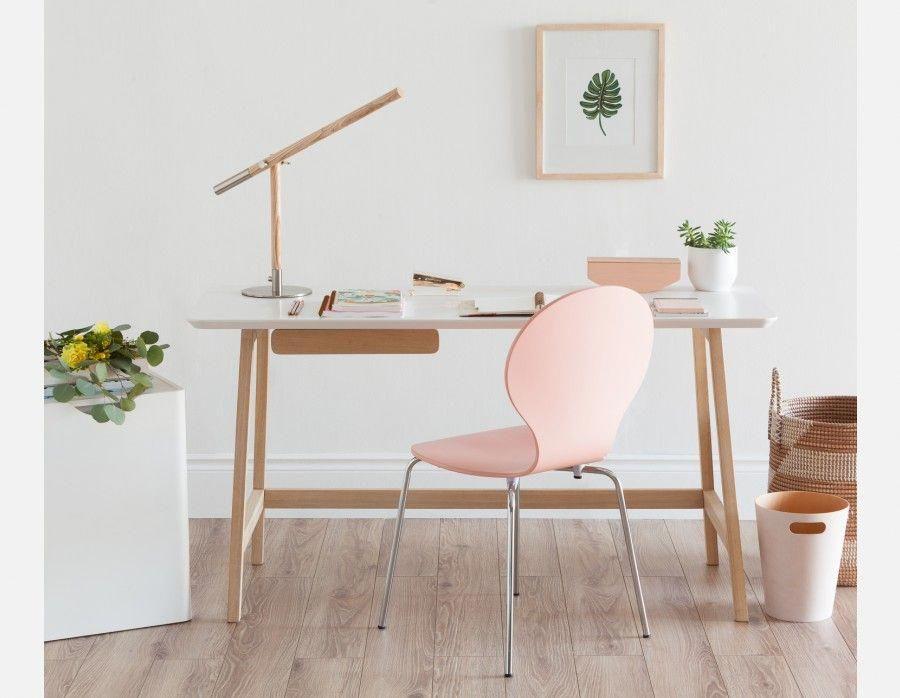 BLUM - Desk 140cm - White and Natural #kidsdeskchairs Kids Desk