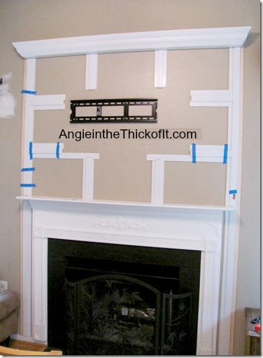 Hiding Flat Screen Cords In Trim Work For The Home