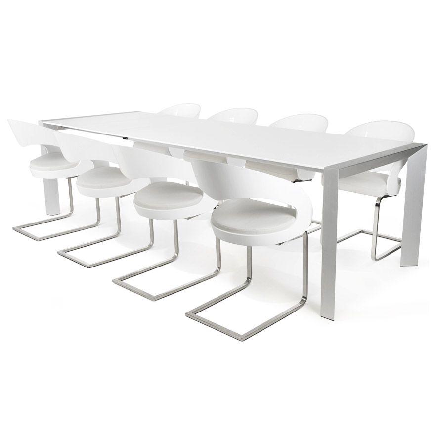 table titan son plateau en bois blanc laqu et ses pieds. Black Bedroom Furniture Sets. Home Design Ideas
