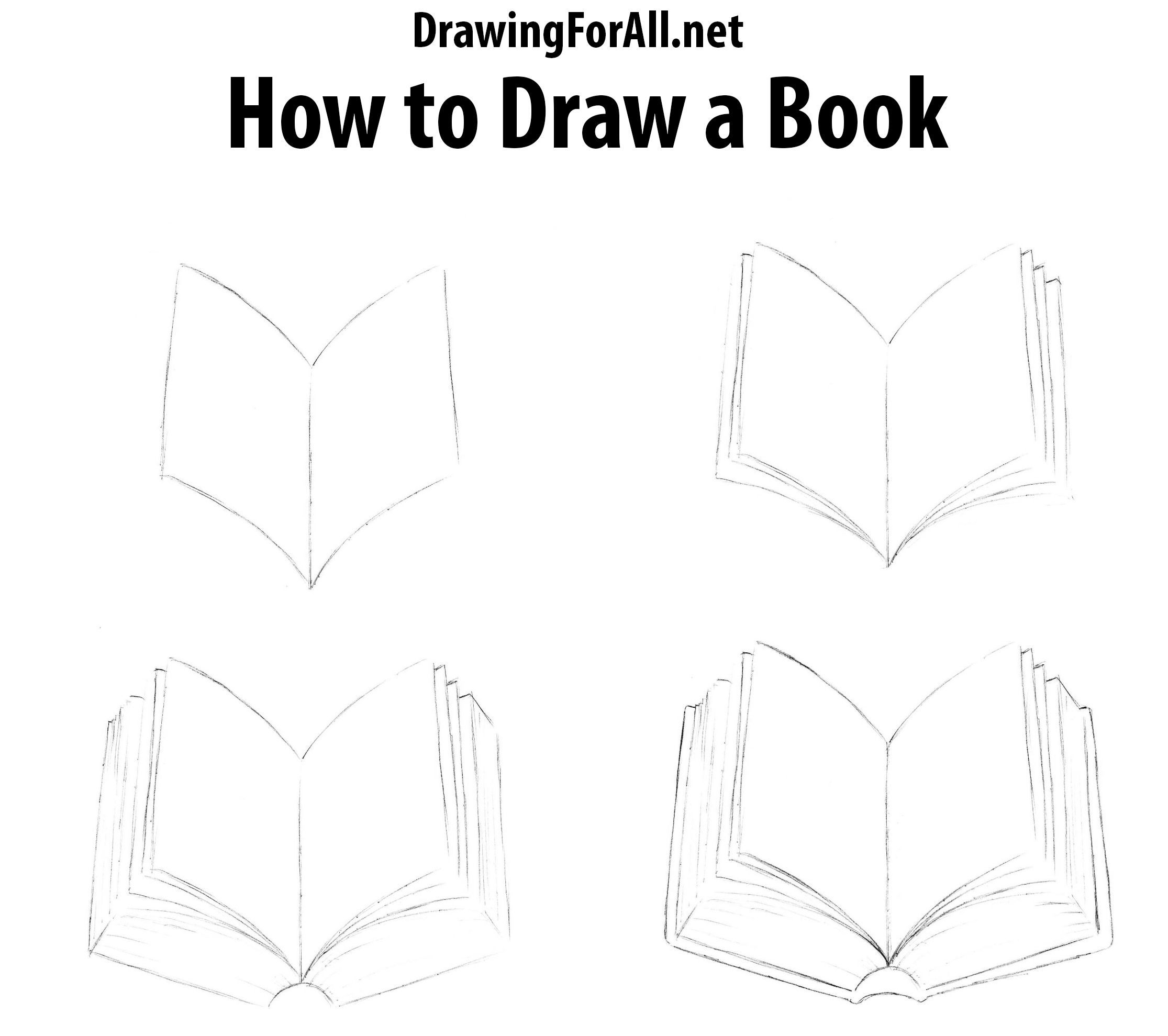 How To Draw A Book Book Drawing Drawings Pencil Drawings