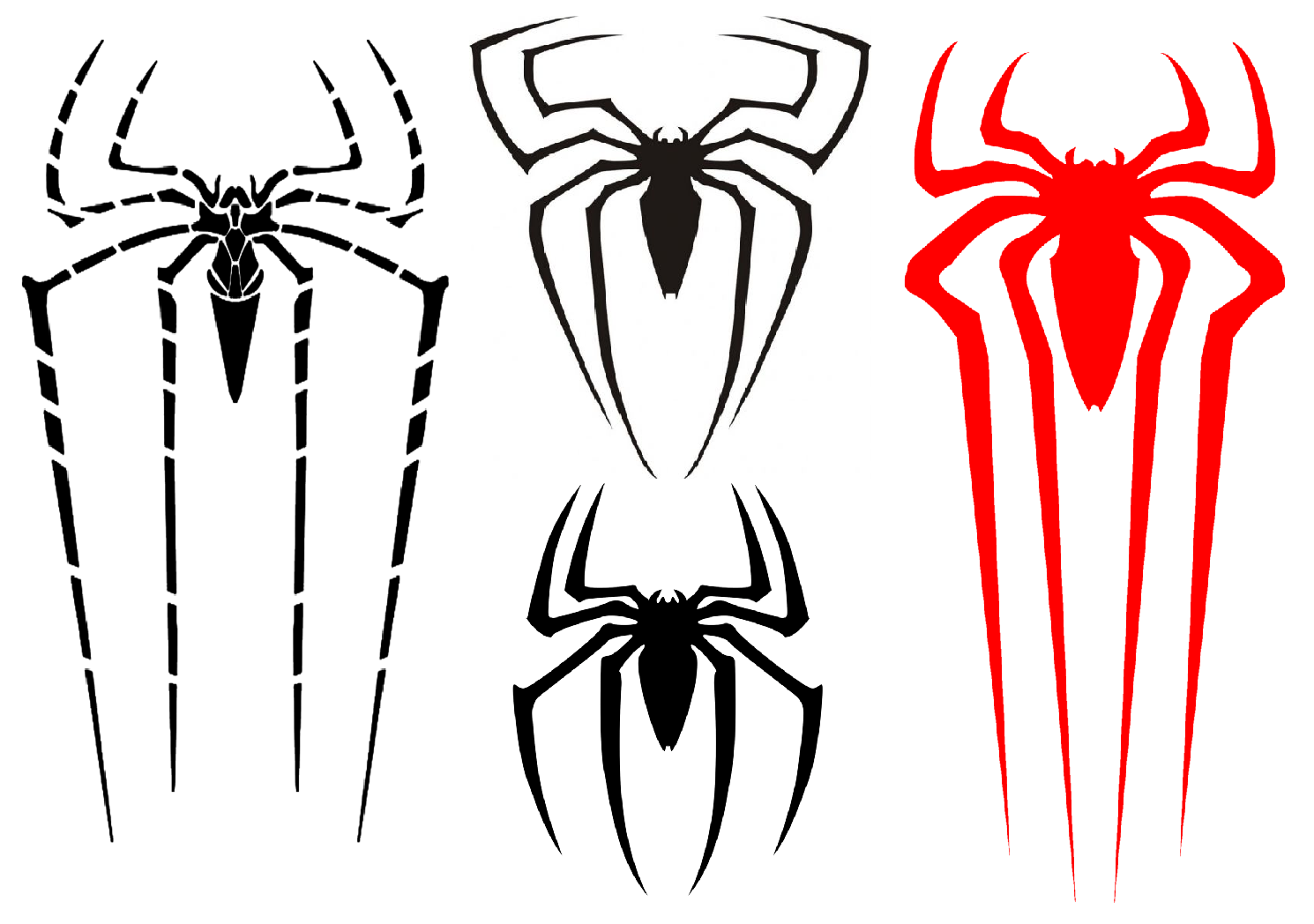 Evolution Of Spider Mans Symbol The Amazing Spider Man