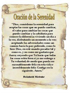 Oración De La Serenidad Reinhold Niebuhr Oración De La Serenidad Oraciones Oraciones Catolicas Cortas