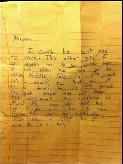 i think this breakup letter was done with more couth than my recent breakupstill a better love story than twilight