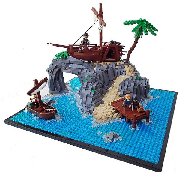 imaginext pirate island instructions