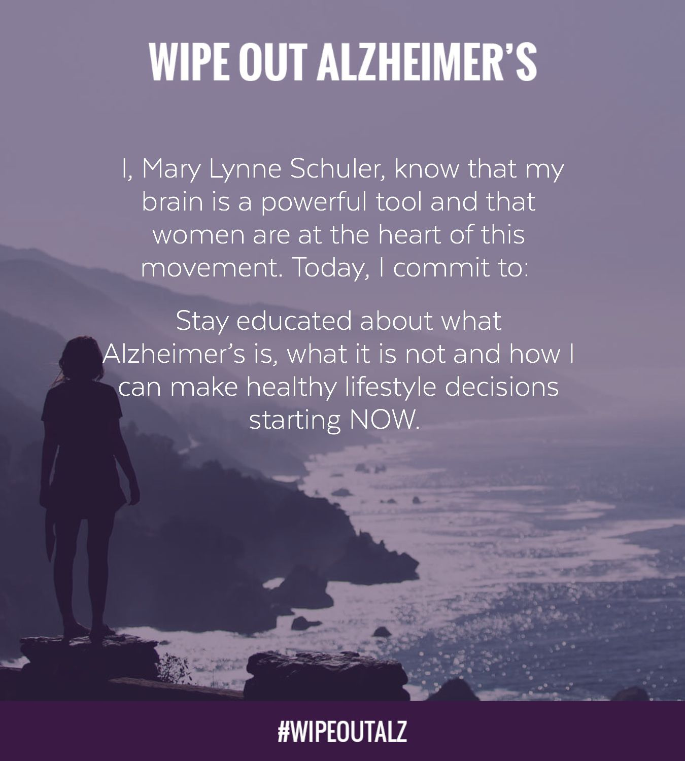 Take the pledge to Wipe Out Alzheimer's NOW