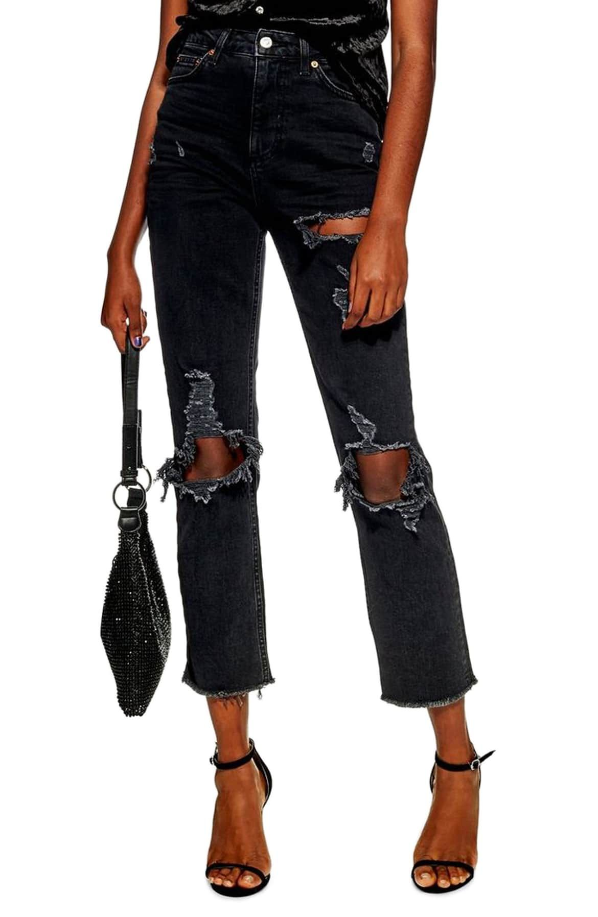 Ripped Straight Jeans 839e8dddc