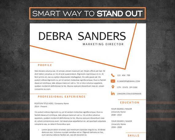Resume Template with Cover Letter 3 page Creative by SuccessTools