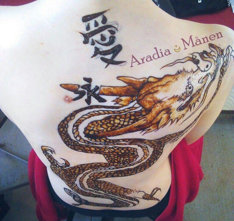 Henna Puerto Rico #dragontattoo #dragonhenna
