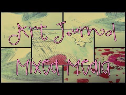 Art Journal/Mixed Media/Septiembre Estilo Nozomi + Técnicas [2] - YouTube