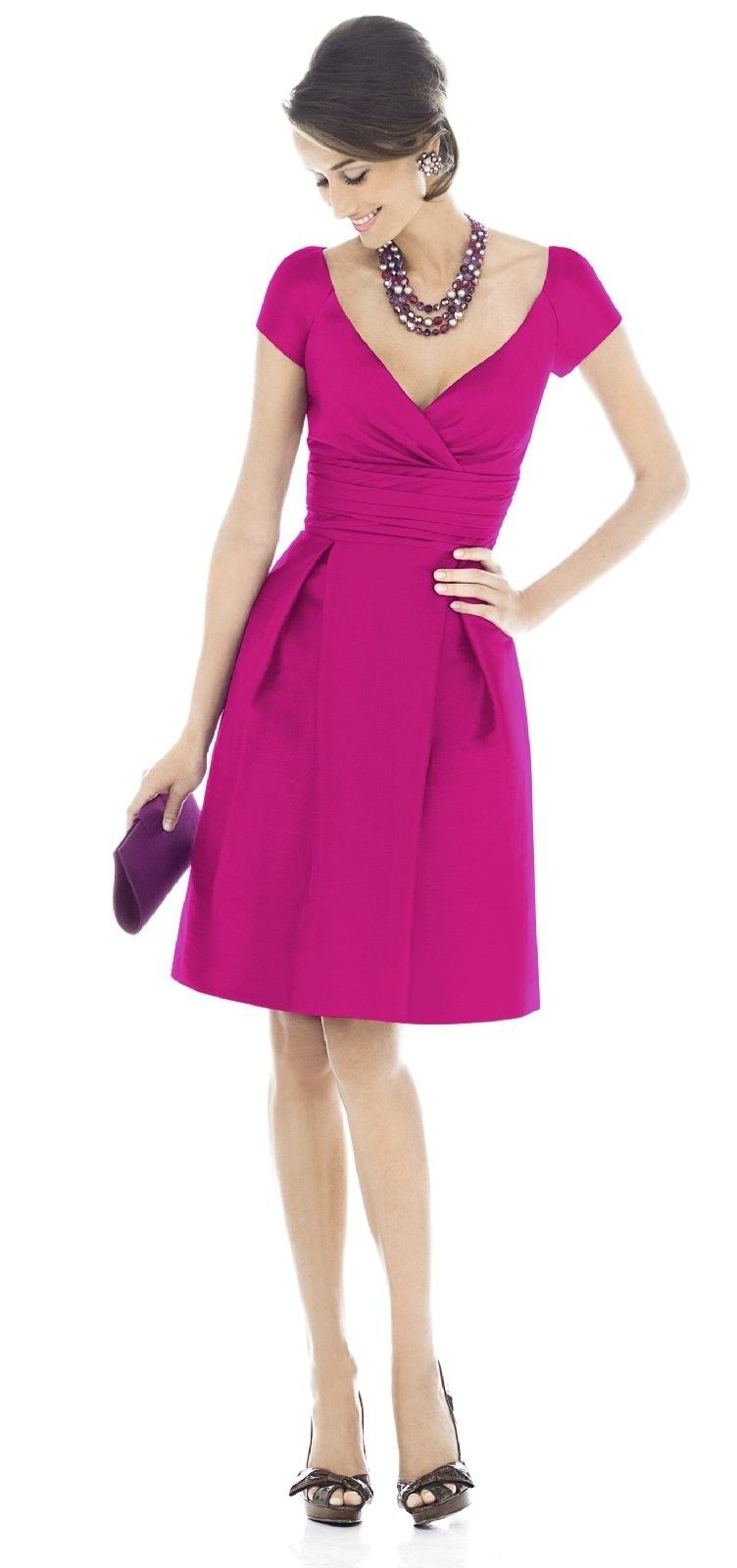 Alfred Sung STYLE D502 BRIDESMAID DRESS | Hot Pink Weddings ...