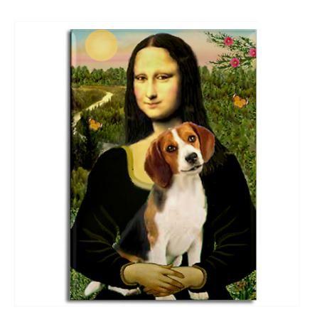 Mona Lisa Beagle Rectangle Magnet Beagles Beagle Funny