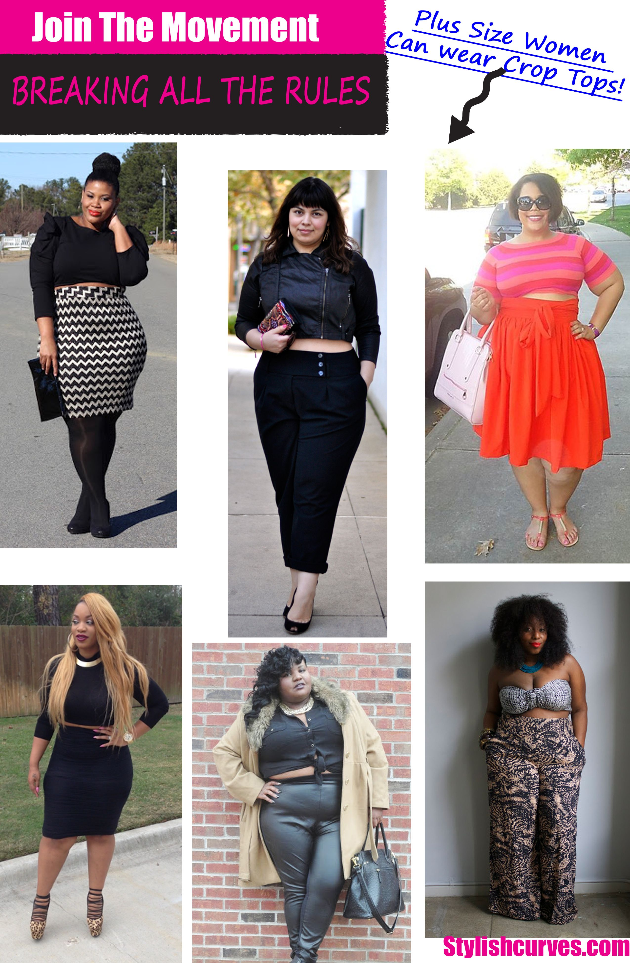 How to crop wear tops plus size