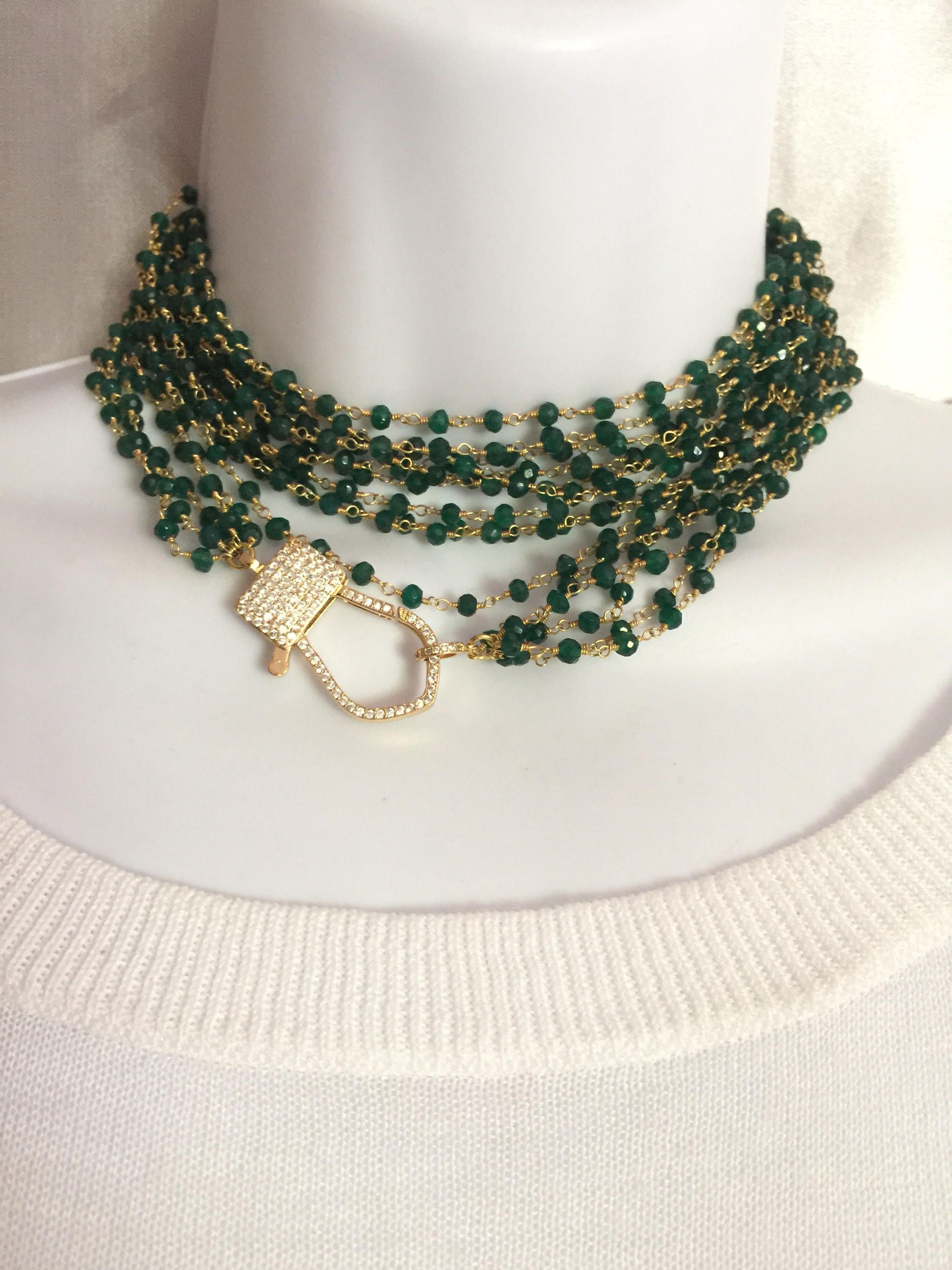 the of pin call beads mind glistening glitter green to onyx necklace