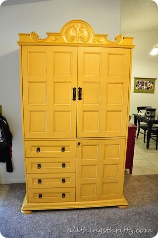 yellow furniture. How To Spray Paint Furniture {YELLOW} Yellow G