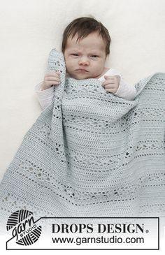 Babydeken Met Kantpatroon De Deken Wordt Gehaakt In Drops Safran