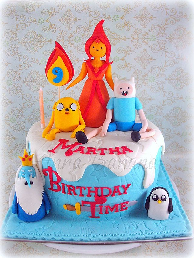 Tremendous Awesome Adventure Time Birthday Cake With Images Adventure Funny Birthday Cards Online Alyptdamsfinfo