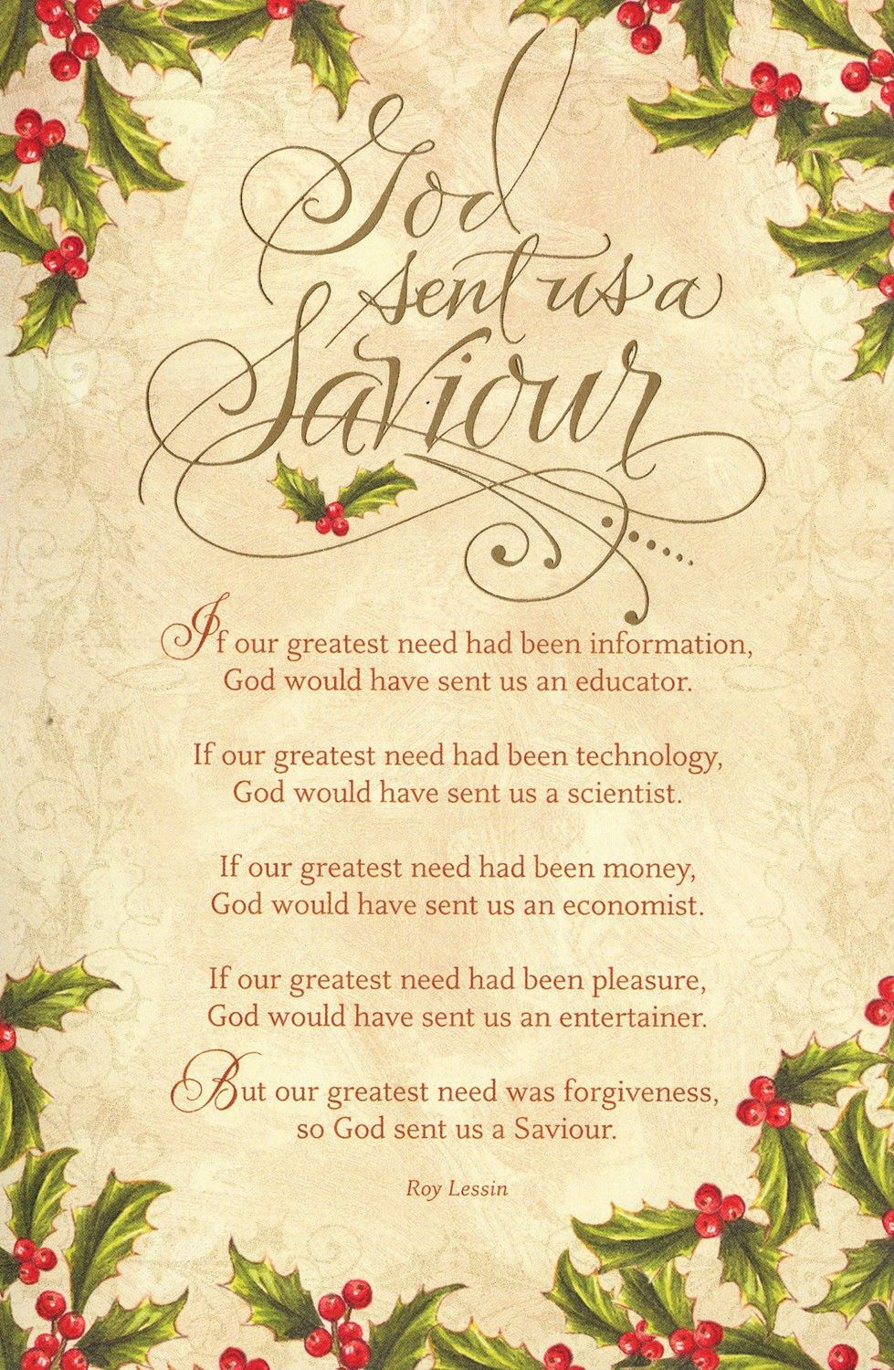 God Sent Us a Saviour Christmas Boxed Cards: FamilyChristian.com