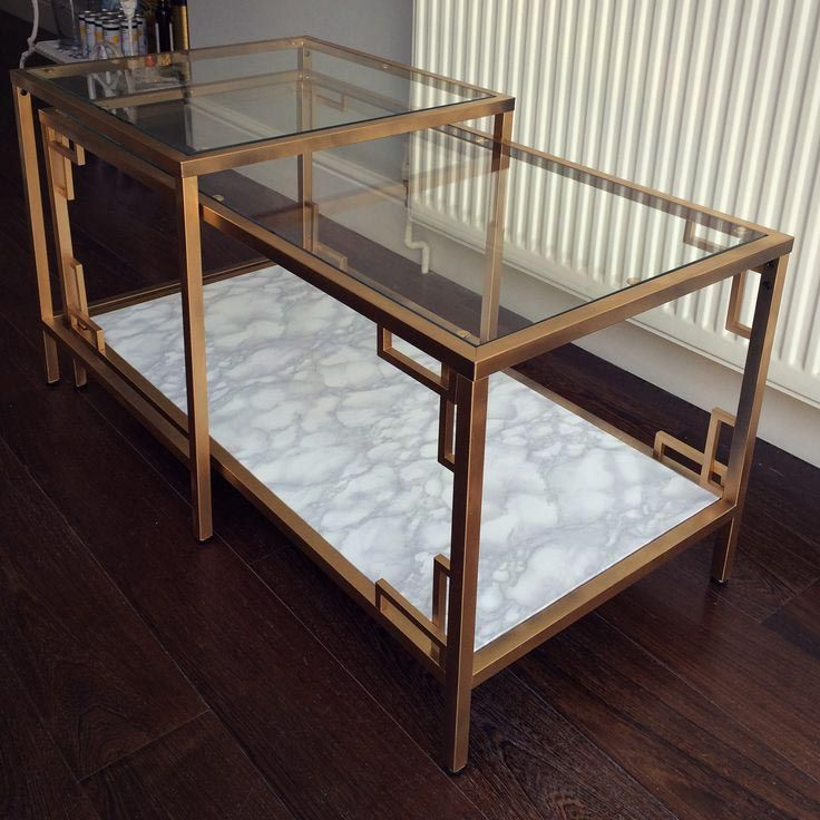 Ikea Marble Top Coffee Table: Gold Marble Coffee Table