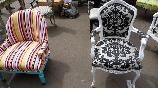 Awesome reupholstered antique chairs - The Divine Chair Company | Flickr -  Photo Sharing!